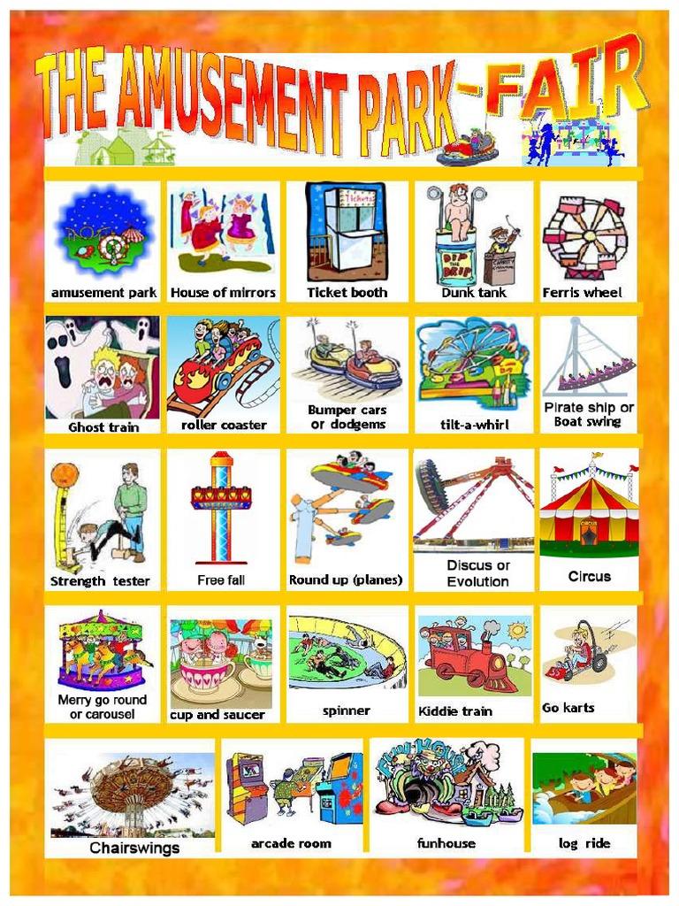 Amusement Park Vocabulary
