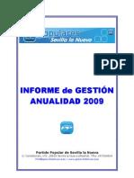 INFORME de GESTIÓN 2009 P.P. Sevilla la Nueva