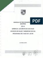Manual de procedimientos del programa del vaso de leche
