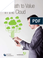 The Path to Value in Cloud