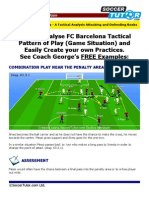 FC Barca Tactic to Combination Play Practices