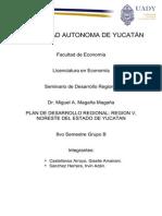 Plan de Desarrollo Regional - Región v Noreste Del Edo. de Yucatan