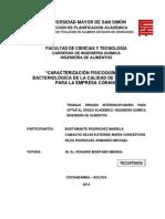 """Caracterización Fisicoquímica y Bacteriológica de La Calidad de Las Aguas Para La Empresa Corani"""""""