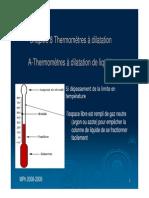 Thermometre a Dilatation