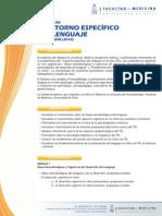 Trastorno Especifico Del Lenguaje 5ta Version 2010