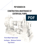 Training Session on Centrifugal Pump