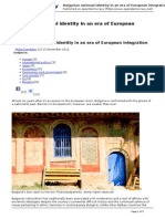2012-12-13 - Bulgarian National Identity in an Era of European Integration