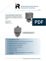 Sor Adjustable Dead Band Pressure Switch