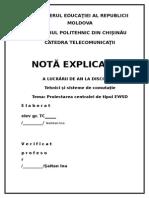 Proiect  Tehnici şi sisteme de comutaţie