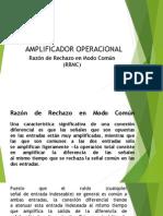 Amplificadores Operacionales Razón de rechazo en modo comun