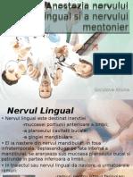 Anestezia nervului lingual si a nervului mentonier