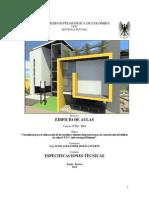 1especificaciones Tecnicas Aulas Uptc