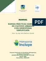 Buenas Prácticas Agrícolas en Cultivos Urbanos Con Hidroponia Simplificada
