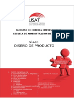 Sílabo 2014 II Diseño de Producto