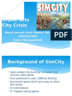 Crisis Management of SimCity (EA Games)
