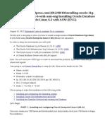 Instalacao Oracle 11G Completo