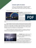 Fenomene Optice in Natura