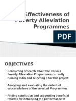 Effectiveness of Poverty Alleviation Programmes