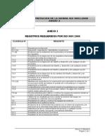 Registros Requeridos Por ISO 9001 2008
