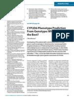 CYP2D6 Phenotype Prediction
