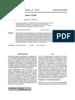 Genetic Polymorphism of Cyp2d6