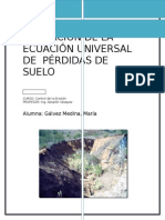 ecuacion universal de perdida de suelo