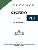 Handlexikon zu Cicero (Merguet, 1905) with Bookmarks
