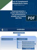 Dimensionamento e analisi di una pavimentazione stradale con il metodo M-E PDG