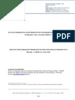 99-1122-1-PBOS CINCO PROBLEMAS MAIS FREQUENTES NOS PROJETOS DAS ORGANIZAÇÕES NO BRASIL