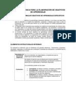 Guia Metodologica redacción objetivos