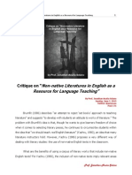 Non-Native Literatures in English as a Resource for Language Teaching