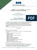 005 Rd 1823 2011 Reestructuracion Departamentos Ministeriales Bo0e a 2011 19939 Consolidado