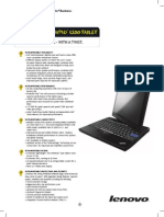Lenovo X200 tablet Data sheet