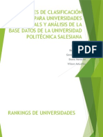 Rankings Universidades