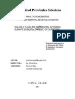 Cálculo y Análisis Dinámico Del Automóvil Tesis (1)