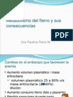 Clase 03 - Metabolismo Del Fierro y Sus Consecuencias