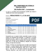 Informativo No. 2 Futbol 8