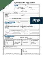 Cedula de Registro de Datos