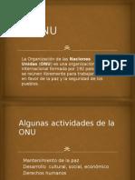 La ONU Diapositivas
