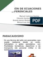 Matematicas v Ecuaciones Diferenciales Aplicacion Paracaidismo
