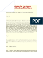 The Order for the Lesser Sanctification of the Water