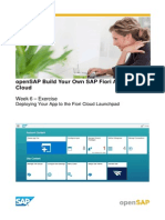 OpenSAP Fiux1 Week 6 Exercise
