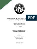 Planeacion y Estrategia_Ackoff y Ansoff_Administracion de Proyectos_Equipo 2_9A_Sep_2014
