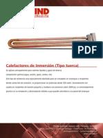 Calefactor Tipo Tuerca