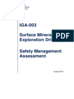 IGA 003 Sufrace Minerals Exploration Drilling Safety Management Assessment