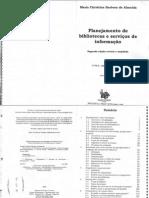 LIVRO - ALMEIDA, Maria Christina Barbosa de - Planejamento de Bibliotecas e Serviços de Informção