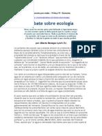 La Ecologia, Segun Benegas Lynch