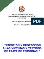 Atención y Protección a Las Víctimas y Testigos de Trata de Personas