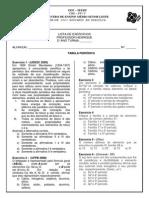 Lista Tabela PDF
