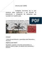 Informe Del CISMID